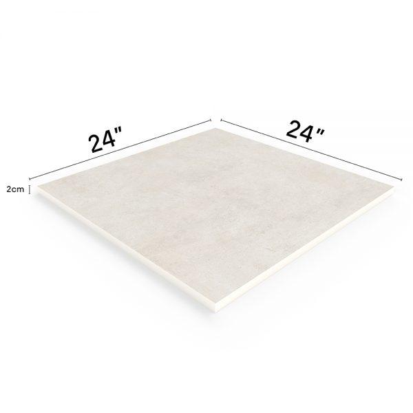 """Betonas Ivory 24""""x24"""" Porcelain Outdoor Paver"""
